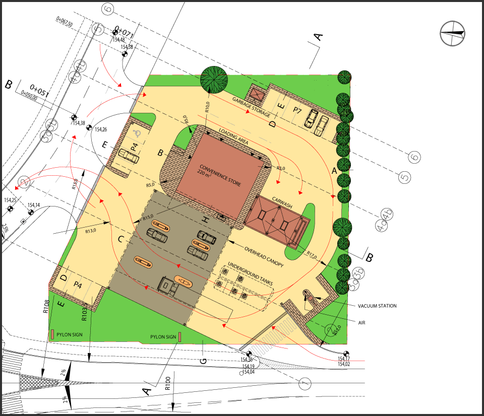 Site Map Example With Fuel: Toronto CAD Services