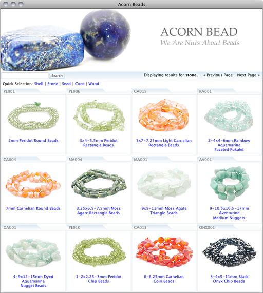Acorn Beads Website.